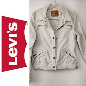 Levi's Jacket Trucker Fitted Corduroy Snap Front